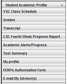 Student Academic Profile
