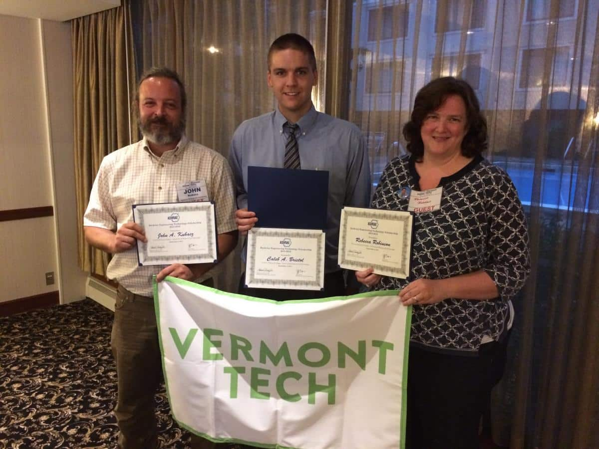ASHRAE student winners hold their certificates, architectural engineering