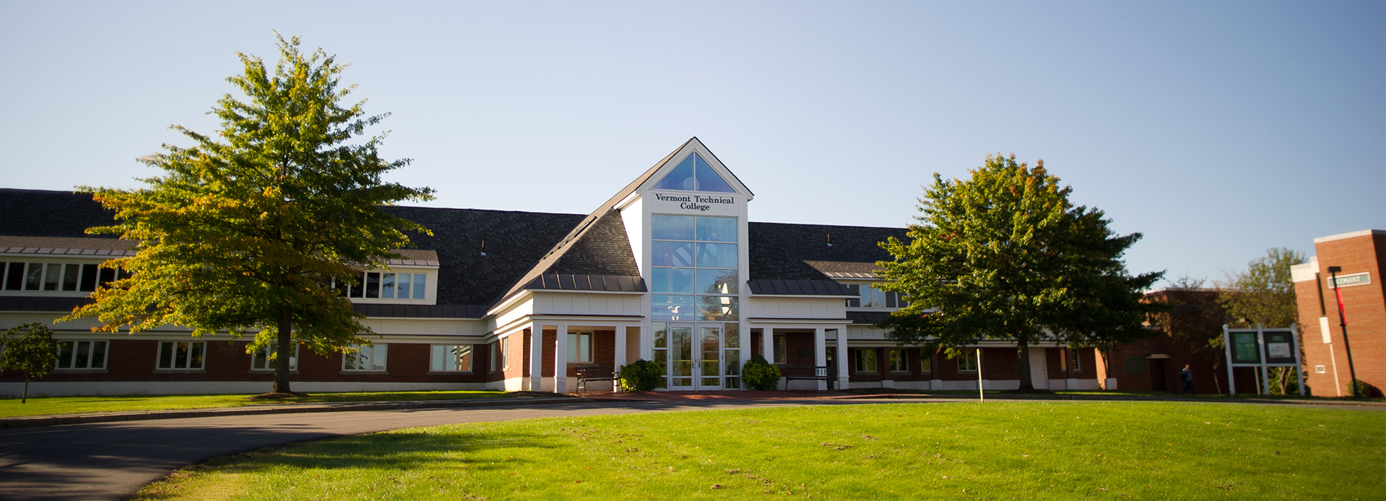 The administration building on Vermont Tech's main campus in Randolph Center.