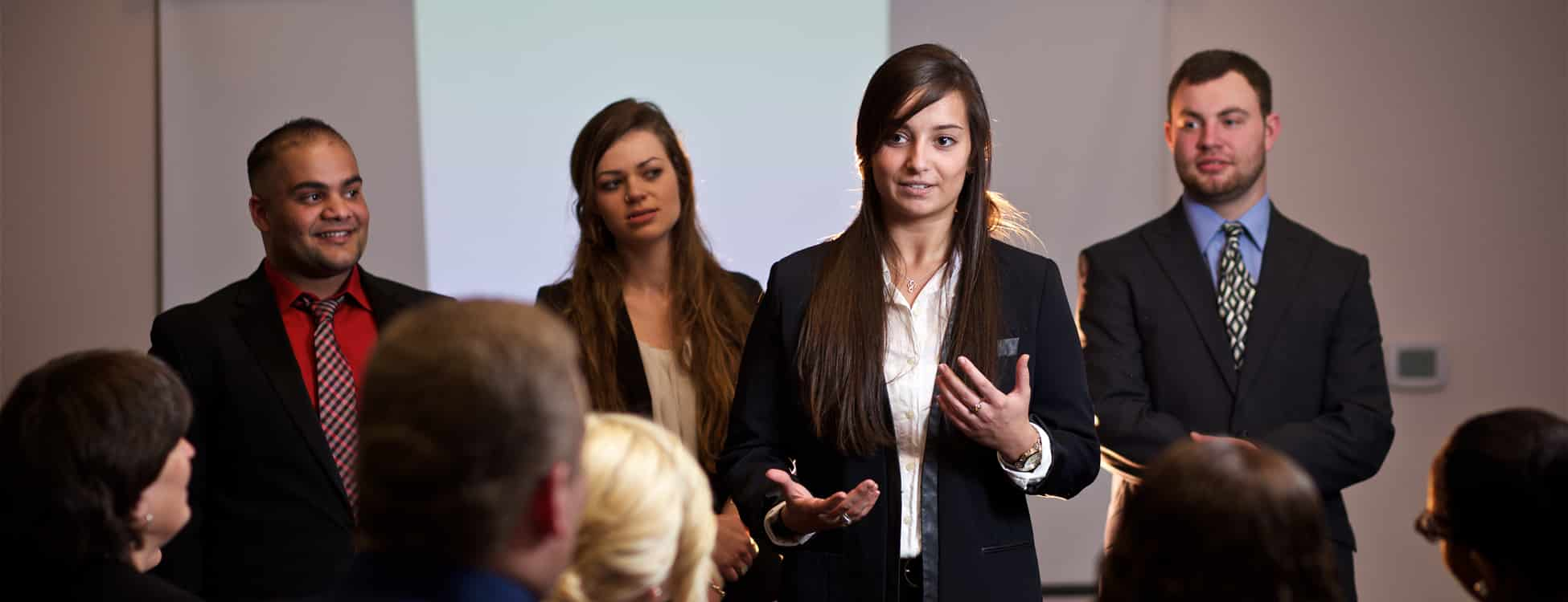 Students present their entrepreneurship finals, diversity