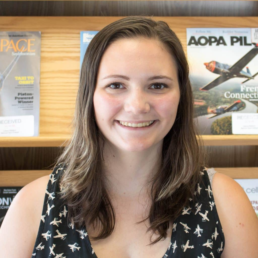 Arianna Strand, student, professional pilot technology
