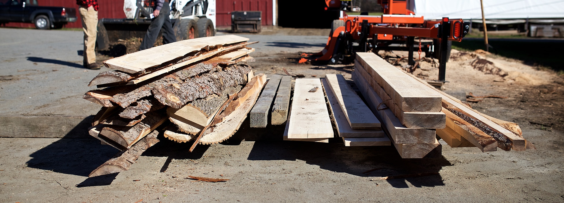 Core cutting class on the Randolph Center campus, forestry, wood cutting