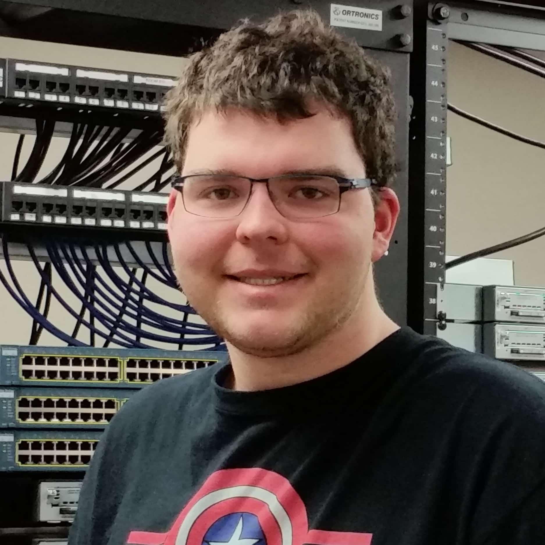 Tom Weening, student, smiles