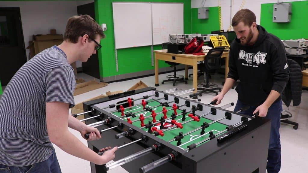 Foosball Playing Robot, senior project, electromechanical engineering