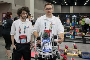 Students Blake, Andrew, and Kramer, robotics, male students