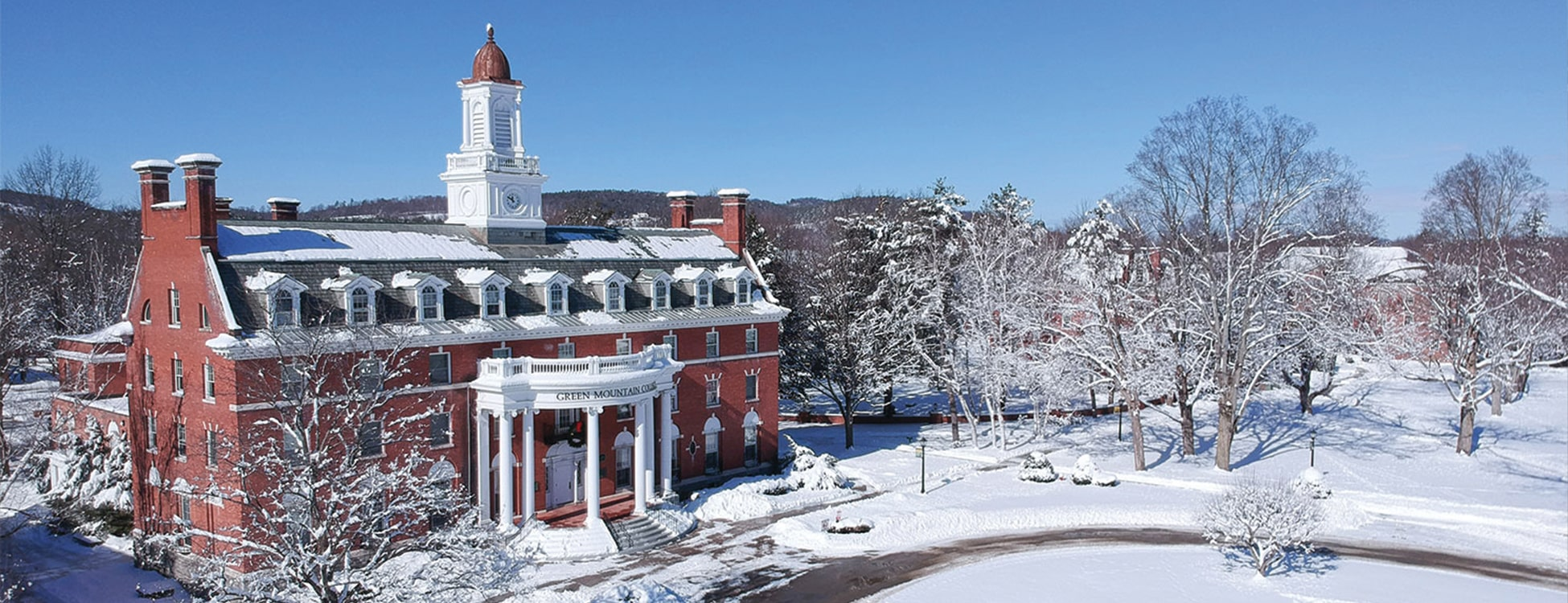 Green Mountain College, snow, winter