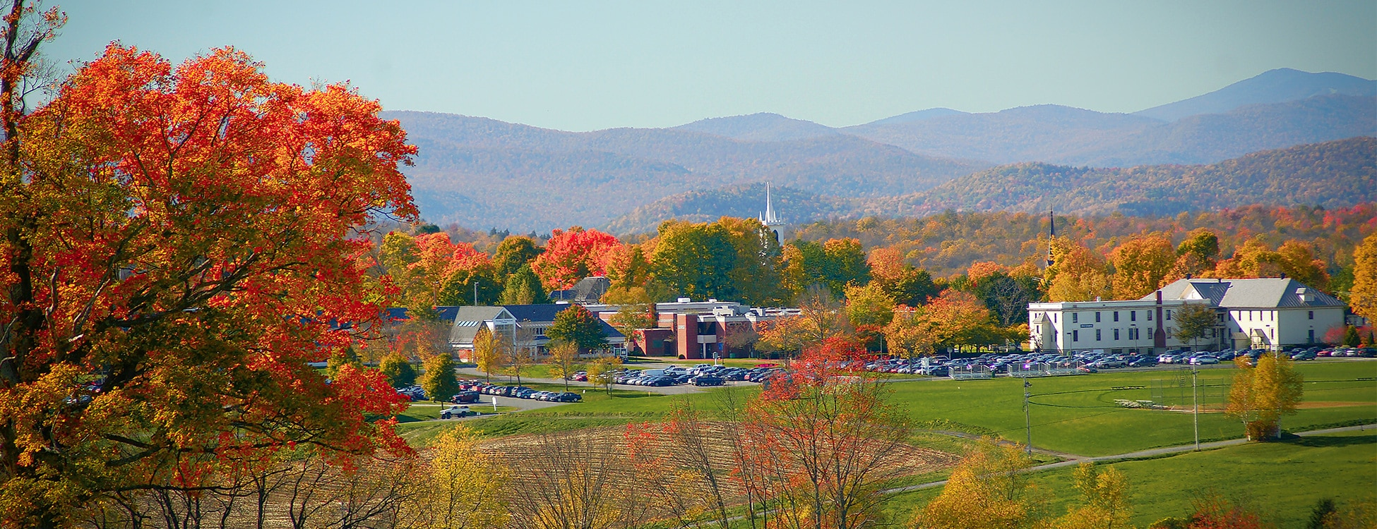 Vermont Tech Randolph Center campus, landscape, autumn leaves, beautiful, mountains, landscape