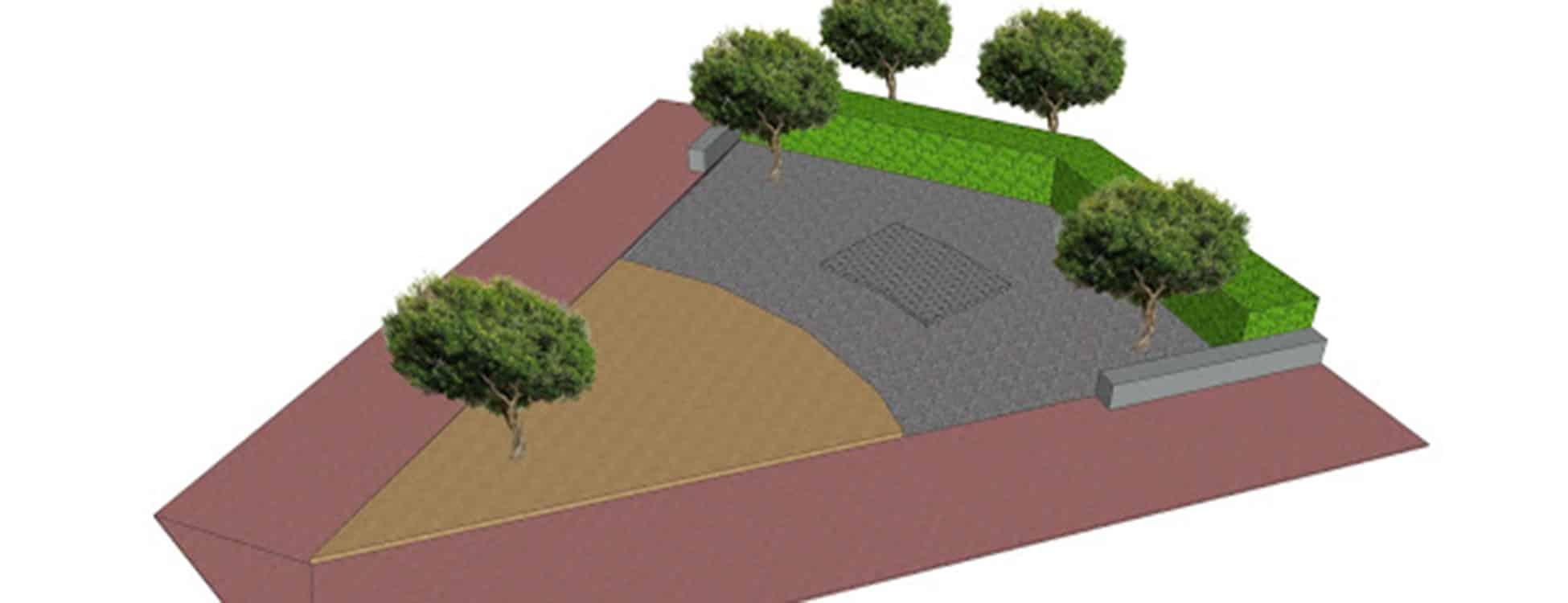 landscape design, plan, Randolph Center campus