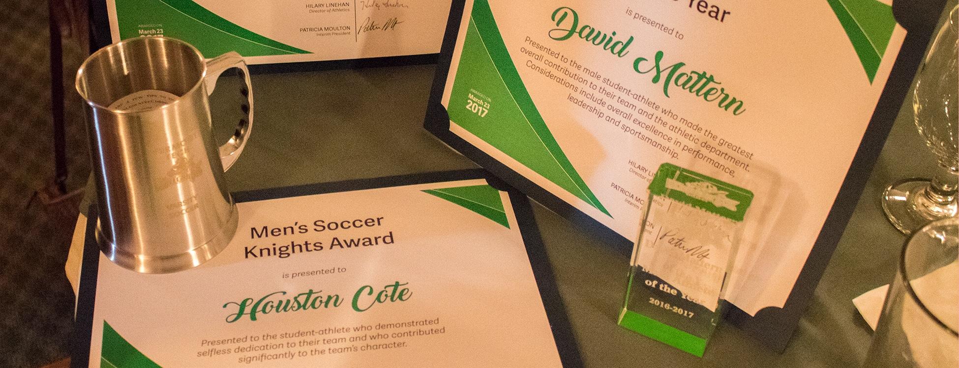 athletic awards, knights, student award winners