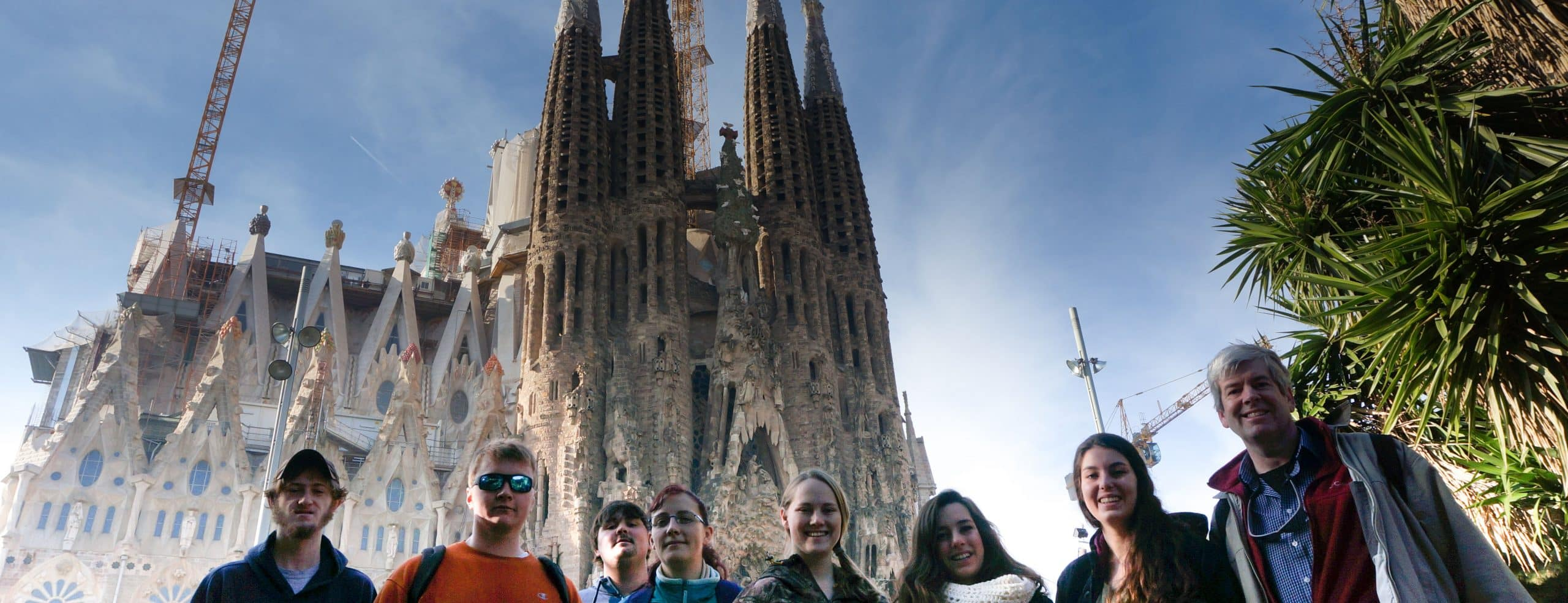 group of students traveling abroad, architectural engineering, fun, trip, travel