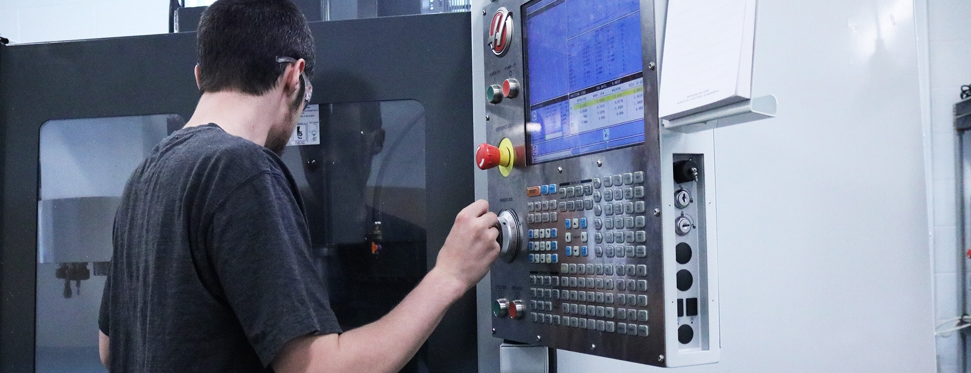 manufacturing engineering technology, mechanical engineering technology, HAAS machinery, buttons