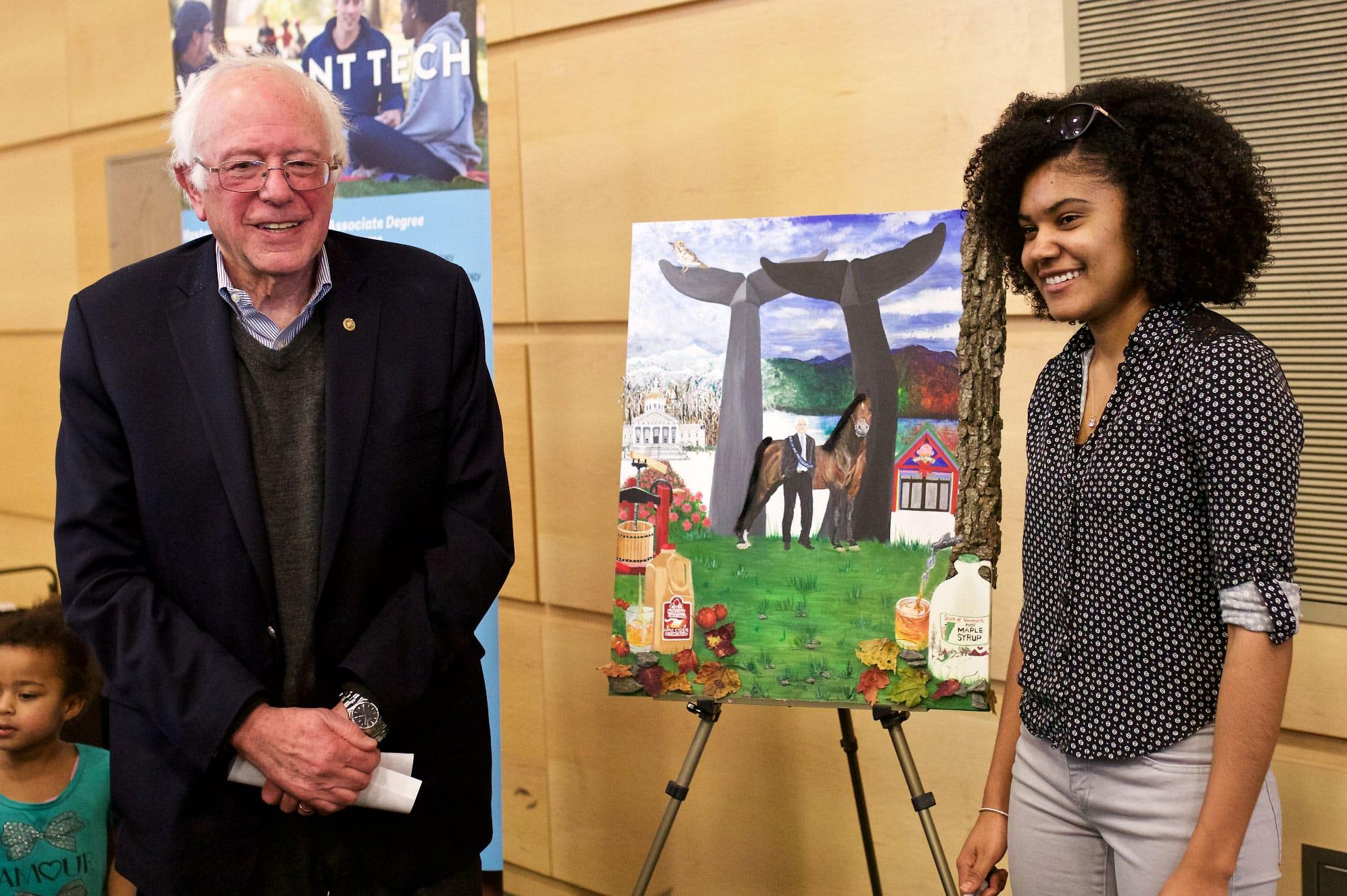 Shana, Bernie Sanders, painting