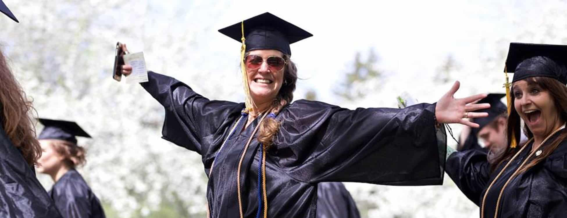 commencement, graduation, happy, smiling, female student