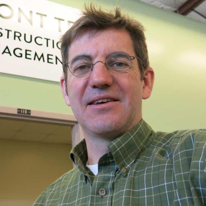 Andy Myrick, faculty member, construction