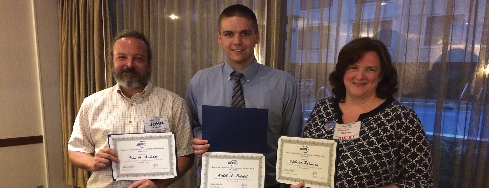 architectural engineering technology, student winners, ASHRAE