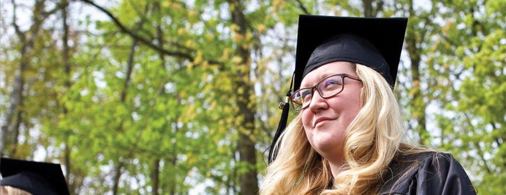 commencement, graduation, 100% placement, female student