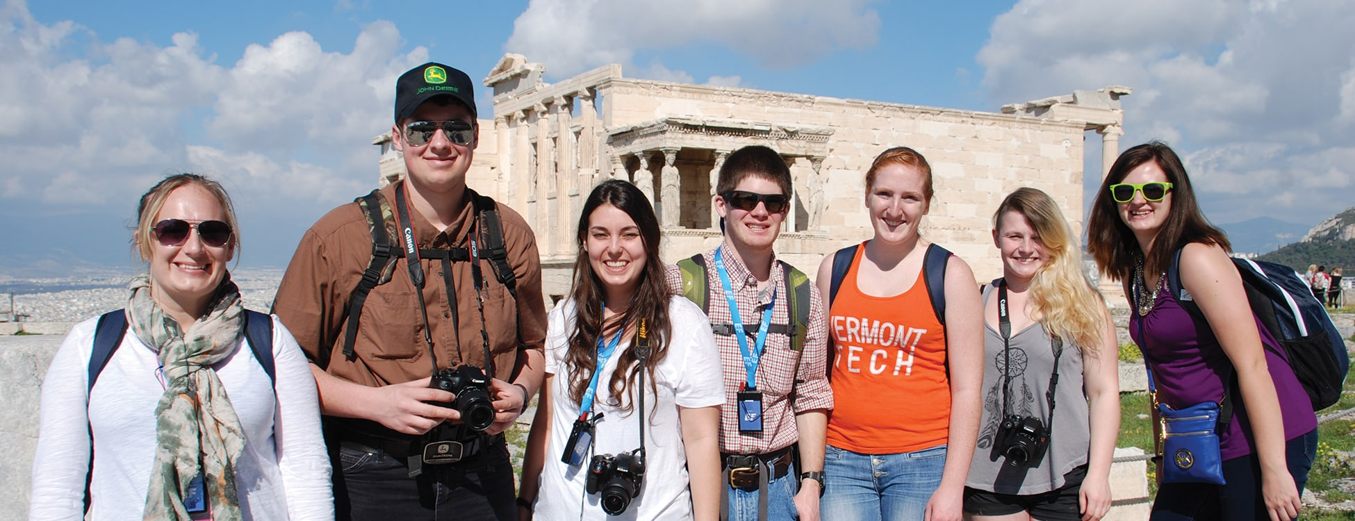 Vermont Tech students traveling in Europe, trip, architectural engineering