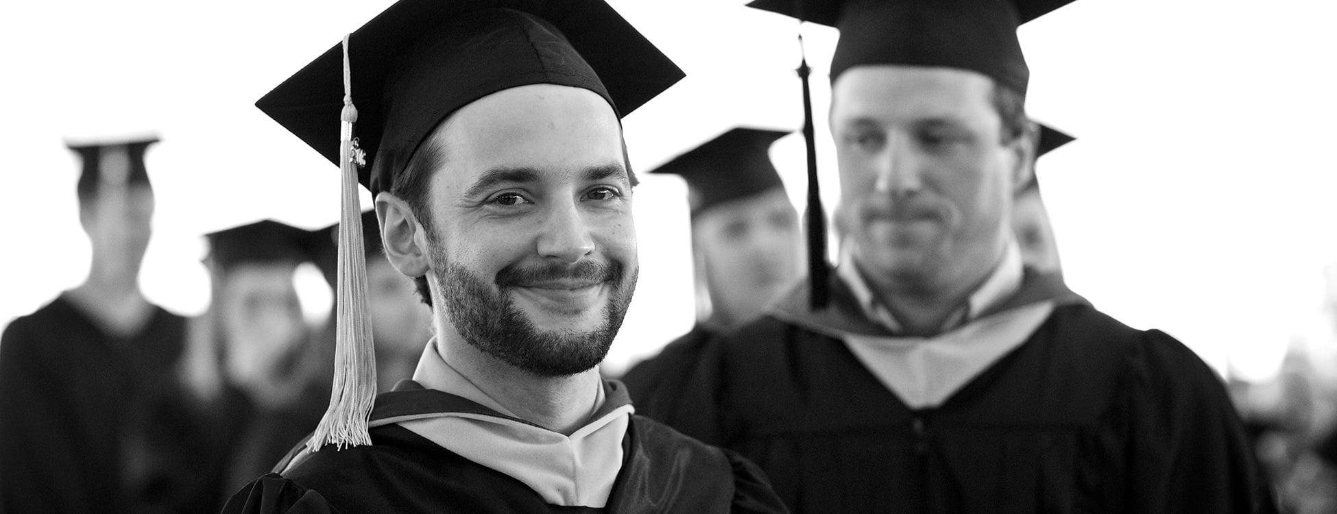 commencement, graduation, Lance Butler, congratulations, male student