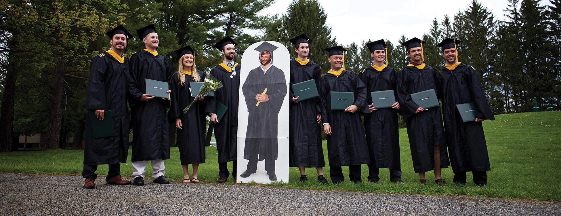 Professional Pilot technology, graduation, commencement, group photo