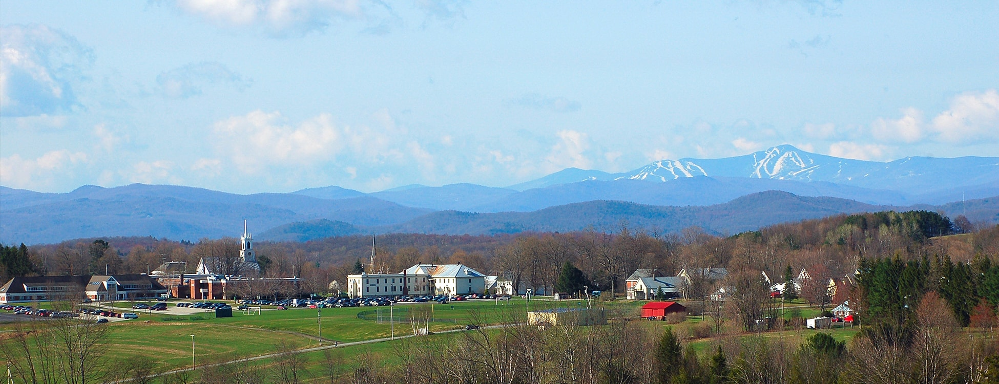 Randolph Center campus, Killington in background, landscape