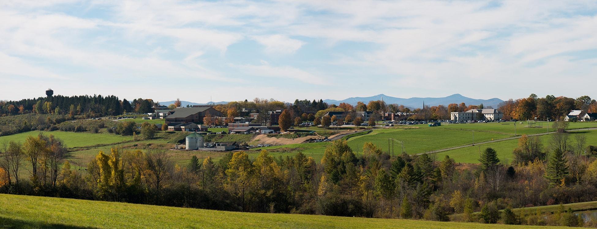 Randolph Center campus, view, digester