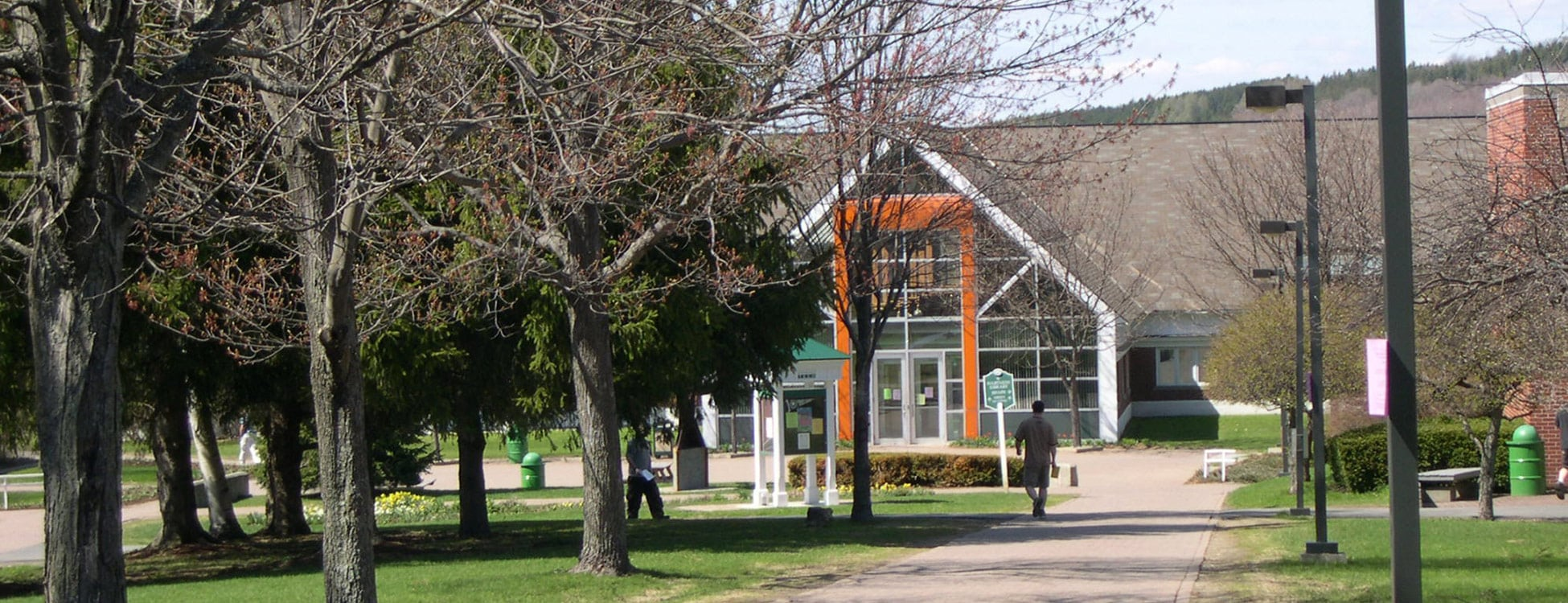 Randolph Center campus, Administrative building, walkway