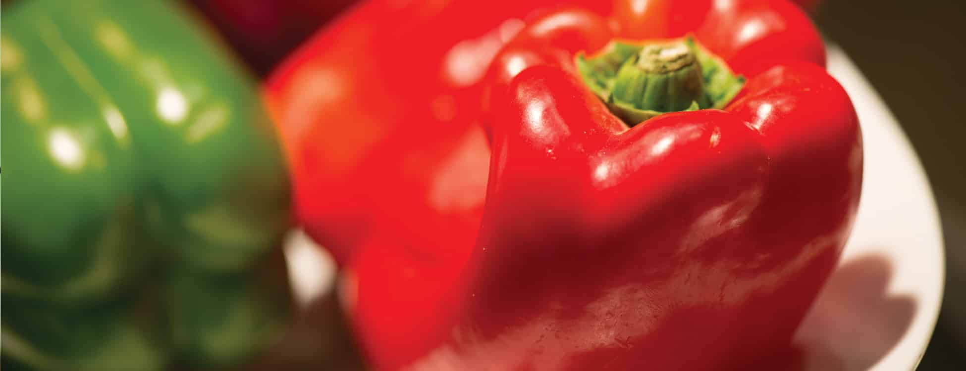 red pepper, food, dining hall, healthy eating