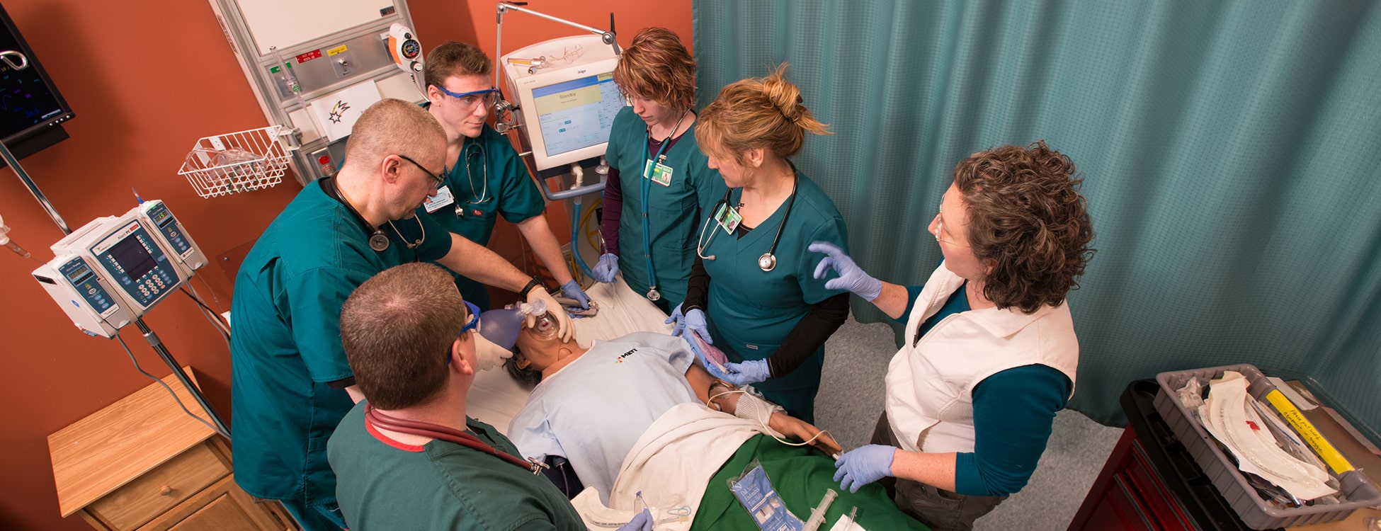 Respiratory therapy, students, simulation, Williston campus