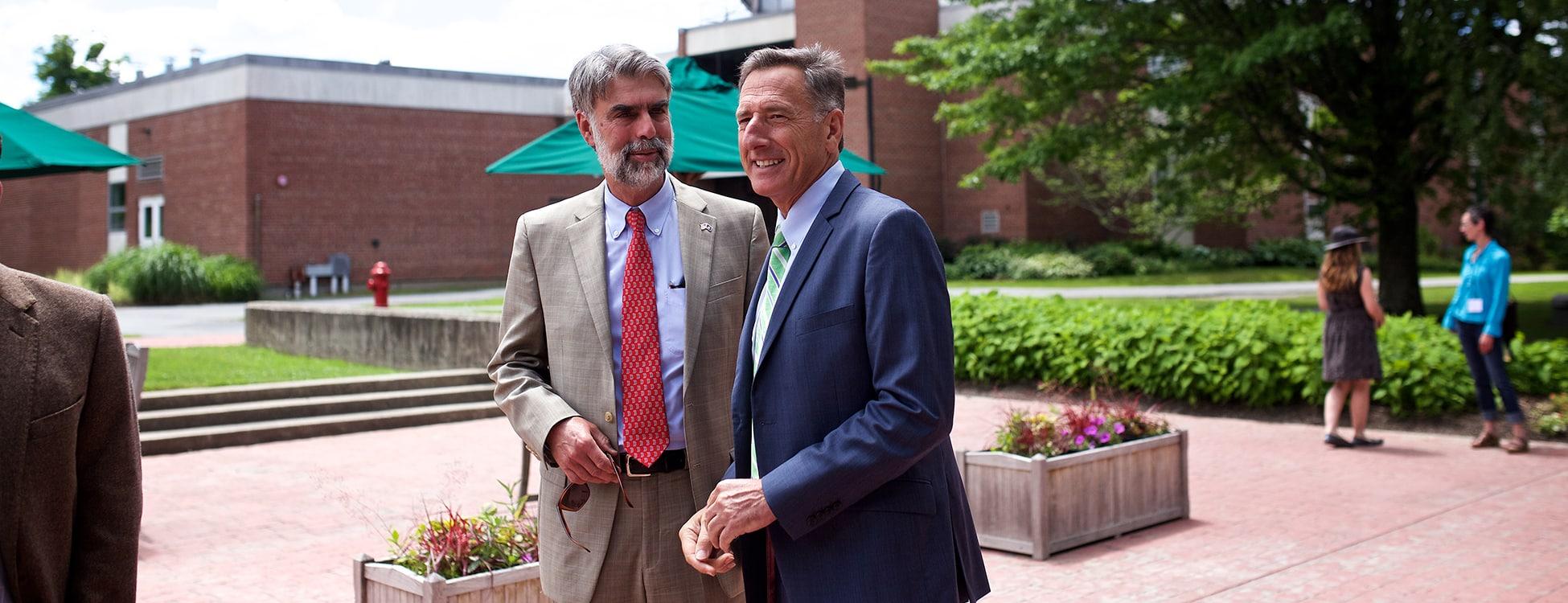 Governor Peter Shumlin, Vermont Tech, Randolph Center campus, outside
