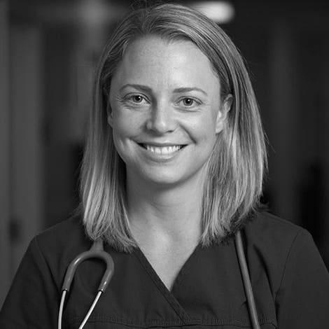 Female student, Ashley, stethoscope, smiling