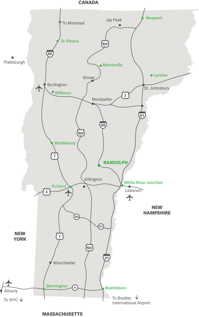 Vermont Tech Campus Locations