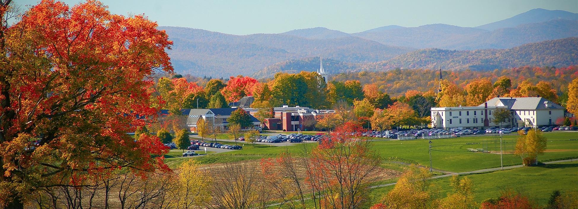 Randolph Center campus, autumn leaves, landscape, beautiful