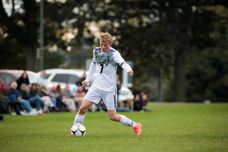 male student, soccer, varsity, knights