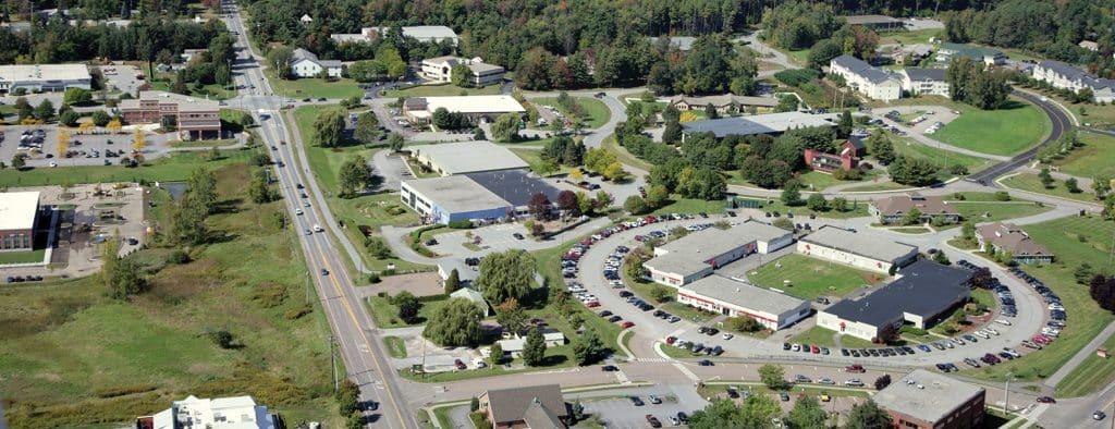 Williston campus, aerial photo