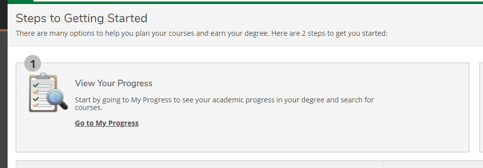 my progress information for student self service portal