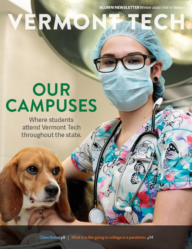 Alumni Newsletter Fall 2020 cover focusing on our campuses