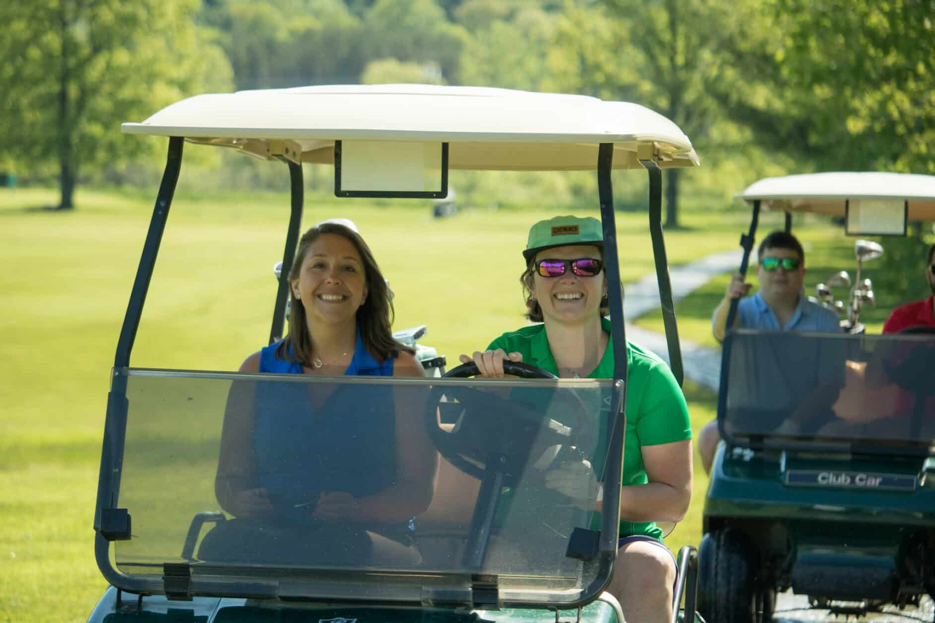 Female golfers at alumni golf tournament