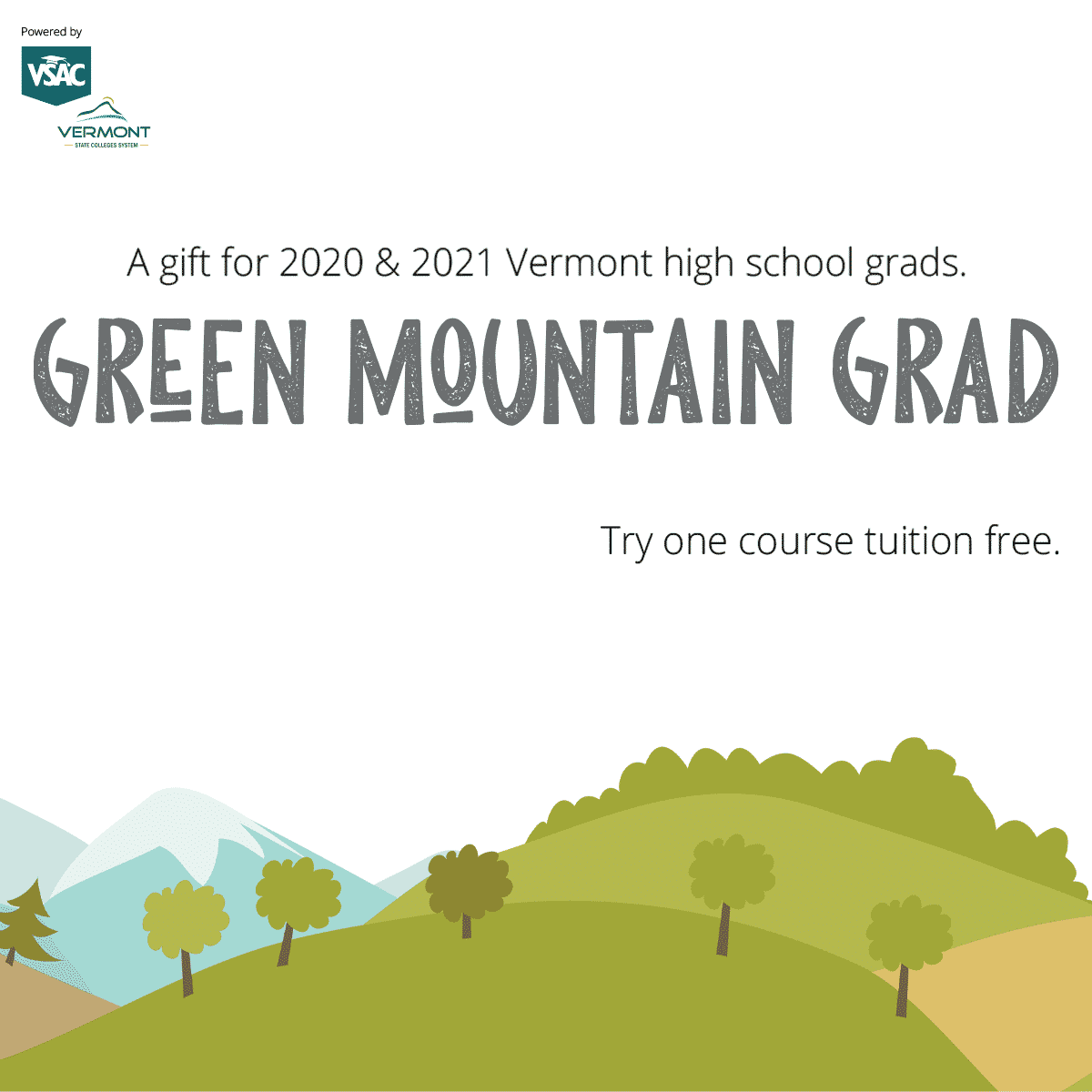 Green Mountain Grad graphic by VSAC